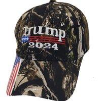 Presidente Donald Trump 2024 Cappello Camouflage Baseball Ball Caps Donne Donne Designer Snapback US Bandiera Maga Biden Summer Sun Visor EWB5894