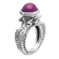 Wedding Rings Romantic Female Princess Purple Color Cubic Zirconia Ring Silver Mermaid Jewelry Promise Engagement For Women