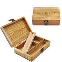 173*120*50 mm Smoking Wood Dry Herb Tobacco Stash Jar Case With Rolling Tray Lock Smoke Accessories Wholesale
