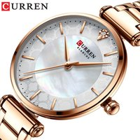 Relojes para mujeres Marca de lujo Curren Elegante reloj de pulsera de cuarzo fino 2021 Acero inoxidable Simple Hembra Reloj Y0525