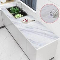 Wall Stickers 5M Kitchen Desktop Waterproof Marble Self Adhesive Wallpaper Dining Table Study Bookcase Contact Paper Room Decor