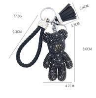 Creative Dibujos animados de diamante completo oso borla llavero colgante lindo masculino y femenino bolso llavero lindo regalo regalo de Navidad 307 S2