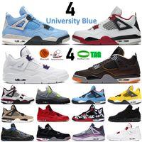 2020 meilleure vente cavs de race tatoo rapotors 4s chaussures de basket-ball hommes limon rouge éclaboussure chaud punch blanc ciment chaussures de