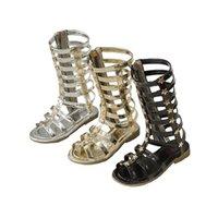 Бекамиль летние детские сапоги звездные гладиаторы сандалии плоские каблуки девушки принцесса пляжная обувь Sz041