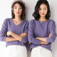 Cashmere Cotton Blend Knitted Womens Sweater Women Tops Spring Autumn Basic Jersey Jumper Pull Femme Hiver Pullover Sweaters