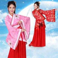 중국 전통 여자 Hanfu 고대의 동양의 요정 꽃 민속 무용 의상 새해 축제 당나리 정장 드레스