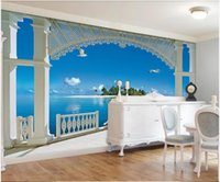 Custom Po Wallpaper 3d Murals For Walls 3 D European Stereo Seaside Scenery TV Background Wall Papers Home Decor Wallpapers