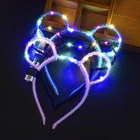 Party Decoratie Lichtgevende LED Antlers Aap Hoofdband Oor Hoofddeksels voor Volwassen Meisjes Vrouwen Kinderen Flash Geschenken Toys Festival Kostuum Concert