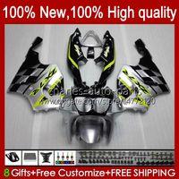 Body carrosserie voor Kawasaki zilverachtig glanzend ninja zx7r ZX750 ZX-7R ZX 7 R ZX 750 28HC.113 ZX 7R 96 97 98 99 00 01 02 03 ZX-750 1996 1997 1998 1999 2000 2001 2002 2003 Fairing Kit