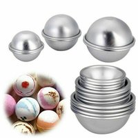 2021 16 PZ FAI DA TE Alloga di alluminio Sapone Sfera Mold sfera Metallo Bagno Bomba Fizzy Artigianato Cake Candle Tart Stampi Regali