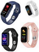 Y16 Smat Bilezik 0.96 inç Bileklikler Bluetooth Çağrı Müzik Uzun Bekleme Çok Spor Modu Kalp Hızı Kan Basıncı Oksijen IP67 Fit Pro İzle Spor Izci