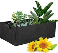 5 Color Felt Planter Bags Planting Growth Outdoor Rectangle Plants Fabric Pot Container for Ourdoor Garden Plant Grow Bag