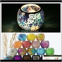 Mosaic Crystal Glass Votive Valentines Day Home Decoration 1Riwx Holders Hticx