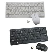 2.4G Mini Ergonômico Sem Fio USB Teclado Mouse Set Office Entertainment Desktop Portátil Suprimentos Combos