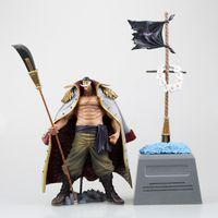 Anime One Piece White Beard Edward Newgate Tombstone Четыре Императоры Whitebeard Пираты ПВХ Действие Фигура Коллекционная Модель Игрушка