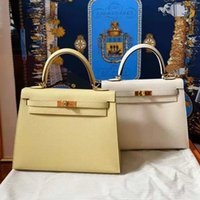 2021 summer fashion chicken yellow leather women's bridal small one shoulder cross carry Kelly bag