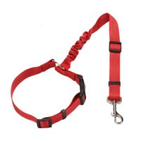 Dog Collars & Leashes Collar Strap Car Seat Belt Adjustable Safety Retractable Breathable Fine Workmanship Durable Gift For Pet Outdoor