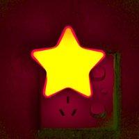 Night Light Star Plug-in Lamp-in Wall Lamp Decoração de Casa Quarto Infantil Sono Bedside UE / EUA Plug Party