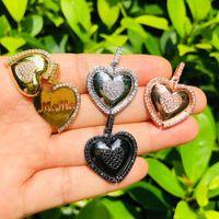 Charms 5pcs mamma nel cuore per la collana del braccialetto della monili della madre fabbricazione degli accessori del braccialetto del braccialetto placcato dell'oro dell'oro della zirconia cubica
