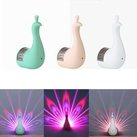 Creative Peacock Wall Lights 3D LED Projection Night Light Magic Colorful Remote Control Lamp Home Decoration lamps Crestech FEDEX UPS