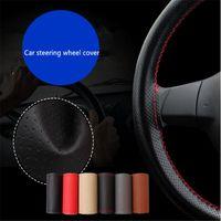 Steering Wheel Covers Car Braid Cover Soft Texture For Megane 2 3 Duster Logan Clio Laguna Captur