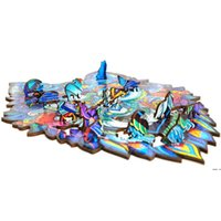 Wooden Puzzle Jigsaw Creative Gifts for Kids 8 Styles Unique...