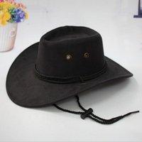 Western Cowboy Hat Men Riding Cap Fashion Accoury Широкий прессованный щедробный подарок AIC88