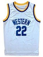 Schip van ons Butch McRae # 22 Western University Basketball Jersey Heren gestikte witte S-3XL Hoge kwaliteit