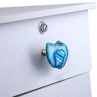Jewelry Pouches, Bags Retro Agate Slices Door Knobs For Cabinet Drawer Closet Cupboard Wardrobe Furniture Pull Handle