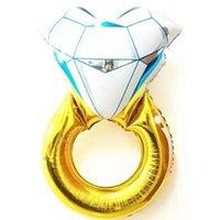43 인치 재미있는 큰 다이아몬드 반지 풍선 패션 파티 웨딩 장식 다이아몬드 반지 풍선 제안 웨딩 ZHL5335 만들기