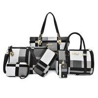 حقائب الكتف Miwind - حقيبة جلد اصطناعية للمرأة، مجموعة من 6 قطع، وظيفية كاملة، من السهل حملها