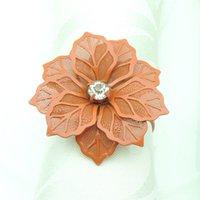 Flor em forma de guardanapo de guardanapo de metal guardanapos de fivela de fivela de festa de casamento decoração de mesa toalhas decoração fivelas multi cores kkb7474