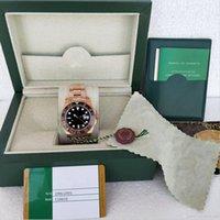 2019 새로운 시계 스타일 시계 고품질 남성 40mm 로즈 골드 126715 모든 일 2813 무브먼트 자동 슈퍼 빛나는 스테인레스 스틸 남성용 시계 원래 상자
