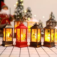 LED Kerst Draagbare Lamp Vlam Lampen Xmas Tree Hanger Decoration Festival Party Supplies