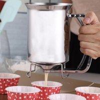المحمولة فطائر الخليط موزع مع غطاء الفولاذ المقاوم للصدأ المهنية قمع أداة مطبخ للخبز كعكة الكعك أدوات المعجنات