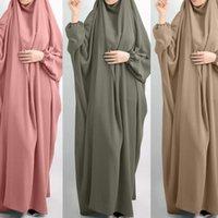 Ropa étnica EID con capucha con capucha Mujeres Muslimas Hijab Vestido Ropa de oración Jilbab Abaya Long Khimar Cubierta completa Ramadan Book Abayas Ropa Islámica