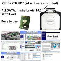 2021 Hot Auto Repair Soft-Ware ALLDATA Soft-Ware Mit vívido 10.2 Soft-ware em 2TB HDD instalado bem em CF30 4GB laptop