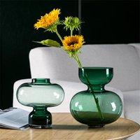 الفاخرة الزجاج إناء الشمال الملونة تررم حاويات الطاولة زهرة المزهريات الحرف المركزية ملحقات ديكور المنزل