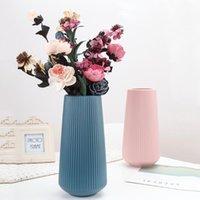 Vases Imitation Ceramic Vase Nordic Style Creative Plastic Origami Home Office Decoration Flower Arrangement Container