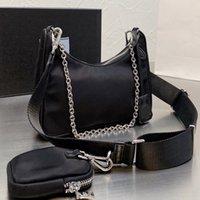 Black Crossbody сумка мода плеча подмышечная сумка багажника пакета женские кожаные сумки винтажные парашютные нейлоновые сумки Hobo высококачественные карман
