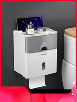 Toilet Paper Holders Punch-Free Creative Waterproof Tissue Holder Box Rack Drawer Tray