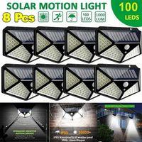 LED lâmpada impermeável ip65 energia solar sem fio pir movimento luz solar jardim jardim jardim jarda de parede de segurança