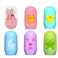 Kinder Baby Nagelpflege Multifunktionszubehör Neugeborenen Nagel Babycare Tragbare Set Nette Kinder Trimmer Maniküre Clippers Schere