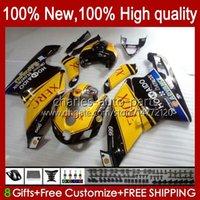 Motorradkörper für Ducati 749s 999s 749 999 2003 2004 2005 2006 Yellow BLK Body Kit 27No.86 749-999 749 999 S R 03 04 05 06 Cowling 749R 999R 2003-2006 OEM-Verkleidung