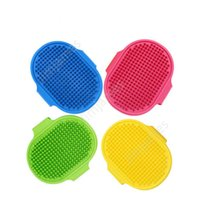 Dog Bath Brush Comb Silicone Pet SPA Shampoo Massage Brush Shower Hair Removal Comb For Pet Cleaning Grooming Tool DAJ353