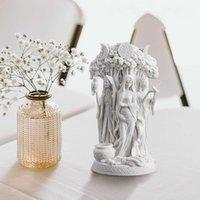 Religión Celtic Danu Triple diosa figurilla resina escultura griega estatua decoración para el hogar resina adornos