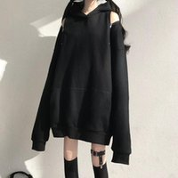 Harajuku Style Off-shoulder Hooded Hoodie Women Spring And Autumn Long-sleeved Jacket Japan Loose Female Top Sweater Women's Hoodies & Sweat