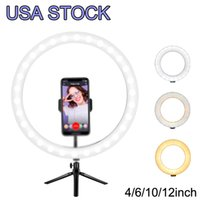 """10"""" Dual Ring Light, Dimmable LED Selfie Ringlight Tripod Stand & Three Phone Holders, 3 Lights Modes Makeup Lighting with Remote for Live Stream"""