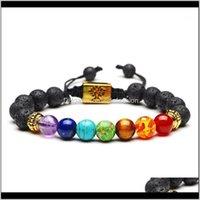 Bracelets Jewelry11Dot11 Yoga Women Jewelry Om Charm Tree Of Life Bracelet Healing Balance Bead Reiki Buddha Prayer 7 Chakra Natural Stone Br