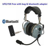 Gris P28 Auriculares de aviación gratis con bolsa de adaptador Bluetooth Gran pNR Piloto Bose Grado Hi-Fi Altavoces Accesorios tácticos